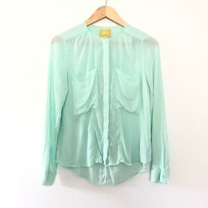 Anthropologie Maeve Button Front Shirt Size 2